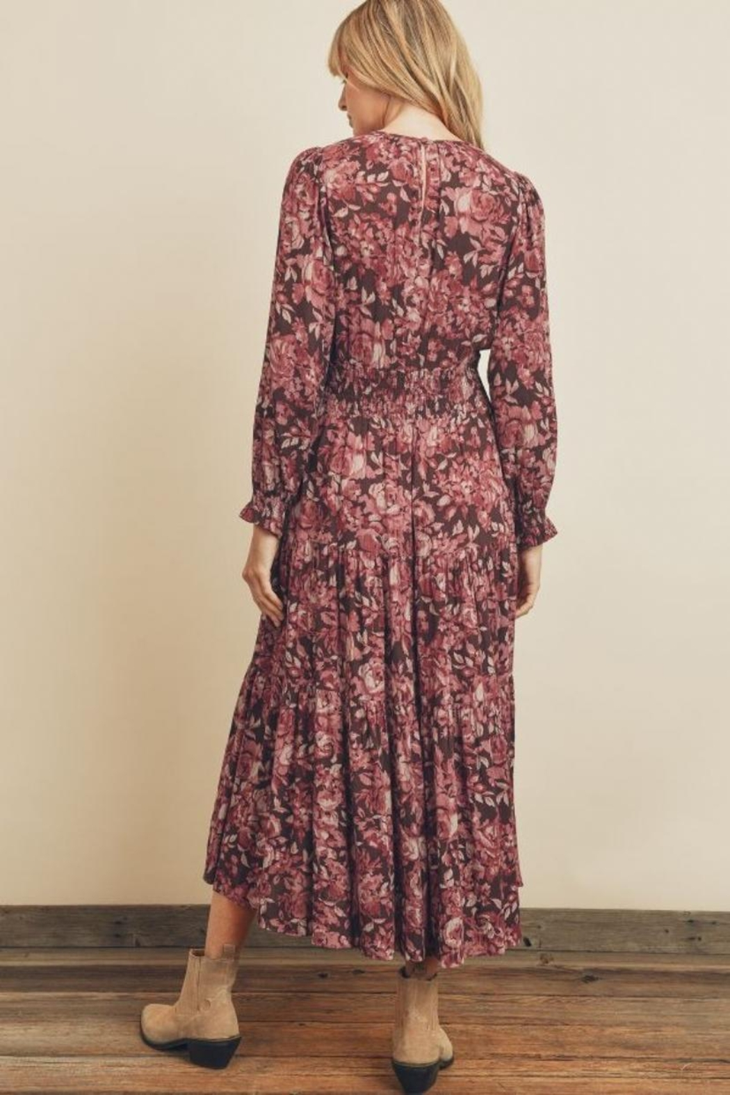 dress forum Floral Tiered Dress - Side Cropped Image