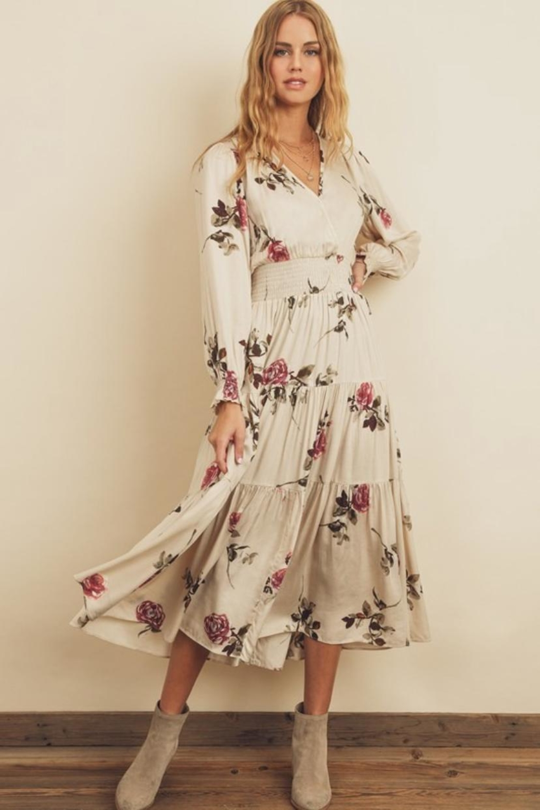 dress forum Floral Tiered Midi - Main Image
