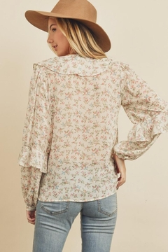 dress forum Floral V-Neck Blouse - Alternate List Image