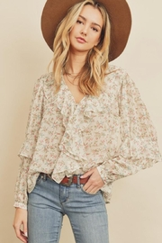 dress forum Floral V-Neck Blouse - Product Mini Image