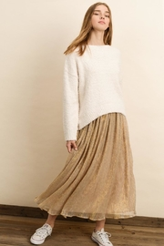 dress forum Gold Midi Skirt - Product Mini Image