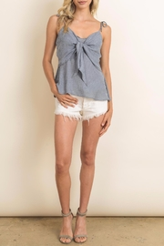 dress forum Grey Tie Top - Front cropped