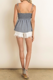 dress forum Grey Tie Top - Front full body