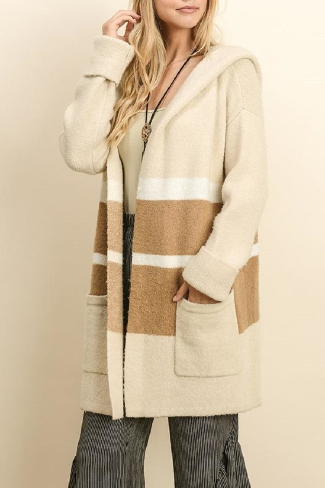 dress forum Heavy Stripe Cardigan - Front Cropped Image