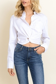 dress forum Knotted Buttondown Shirt - Front cropped