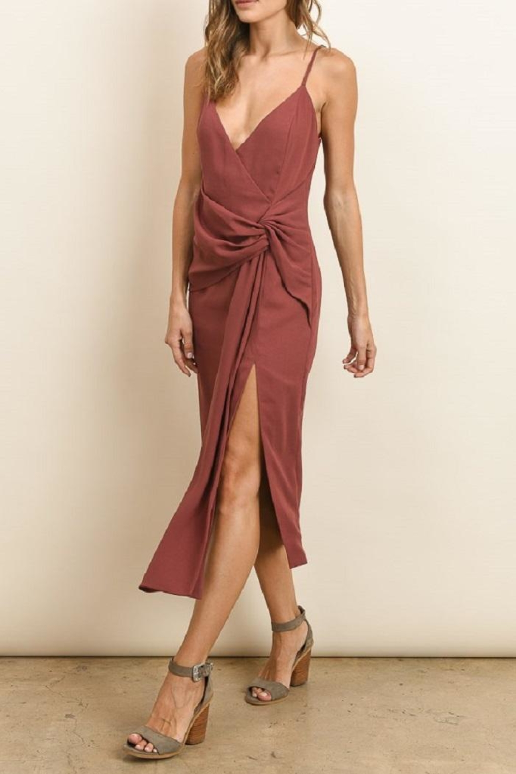 dress forum Knot Midi Dress - Front Cropped Image