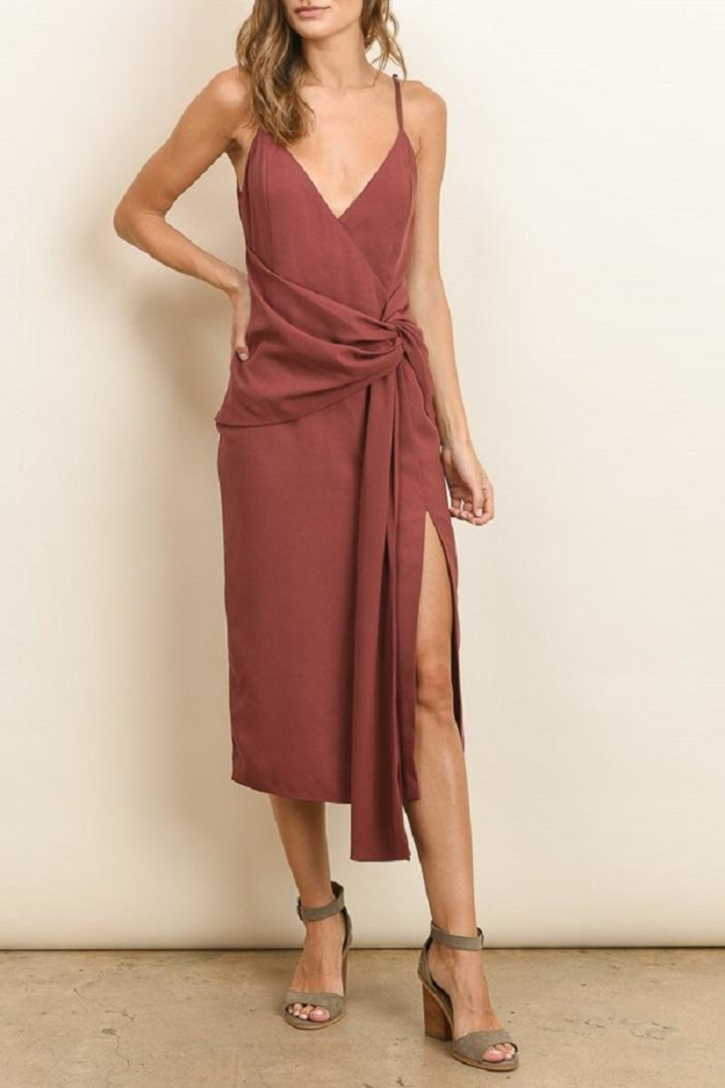 dress forum Knot Midi Dress - Front Full Image