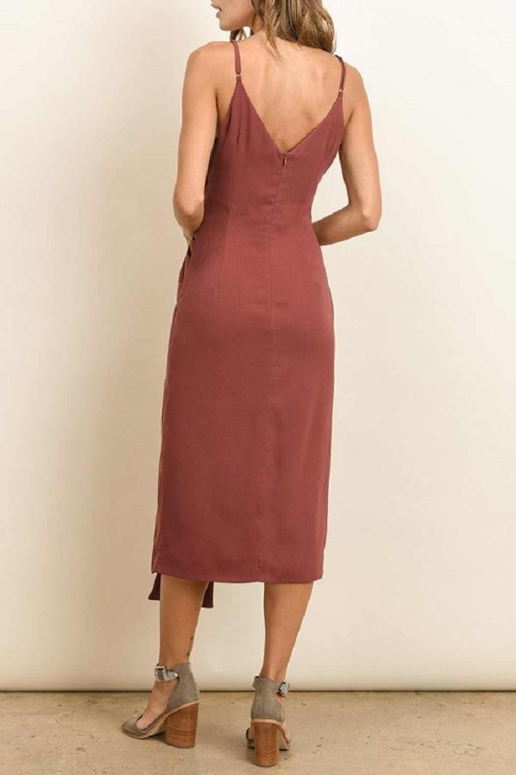 dress forum Knot Midi Dress - Back Cropped Image