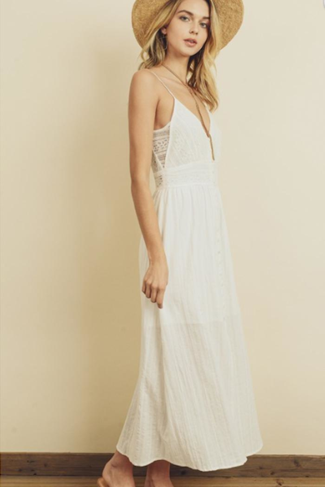 dress forum Lace Button-Front Midi - Front Full Image