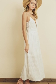 dress forum Lace Button-Front Midi - Front full body