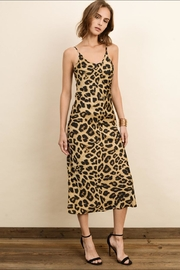 dress forum Leopard Satin Dress - Front cropped