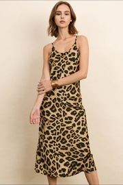 dress forum Leopard Satin Dress - Front full body