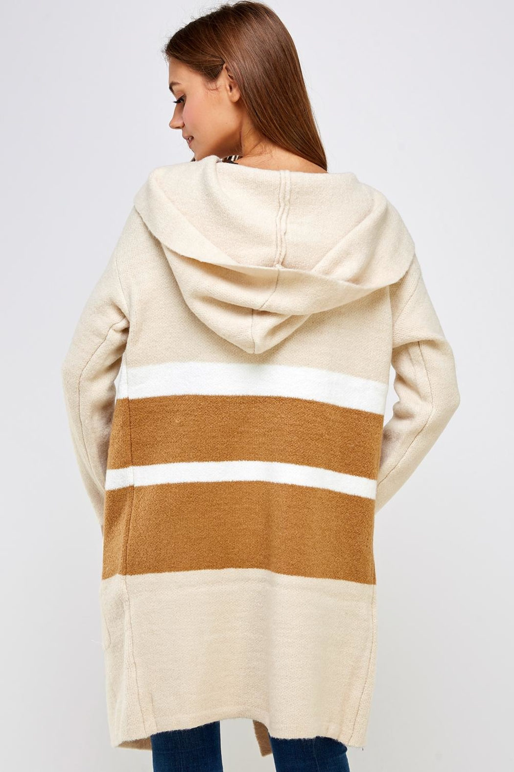 dress forum Long Colorblock Sweater - Back Cropped Image