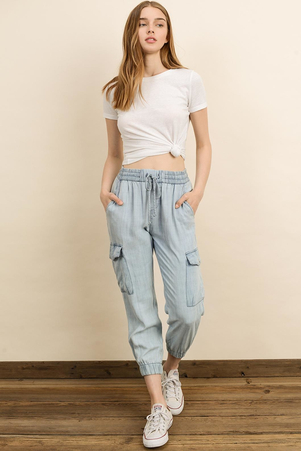 dress forum Mineral Washed Joggers - Front Full Image