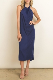 dress forum Navy Halter Dress - Front cropped