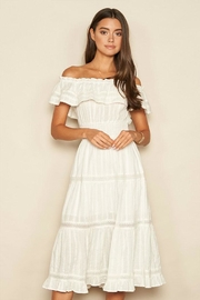 dress forum Off-The-Shoulder Midi Dress - Product Mini Image
