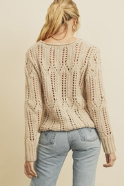 dress forum Open-Knit Pullover Sweater - Back cropped