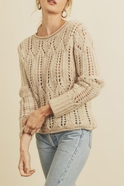 dress forum Open-Knit Pullover Sweater - Front cropped