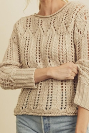 dress forum Open-Knit Pullover Sweater - Side cropped
