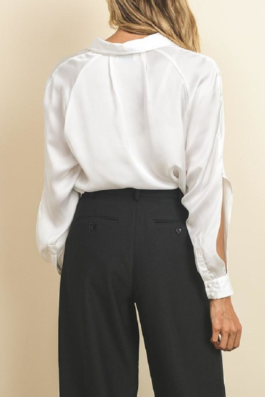 dress forum Open Sleeve Buttowndown - Side Cropped Image