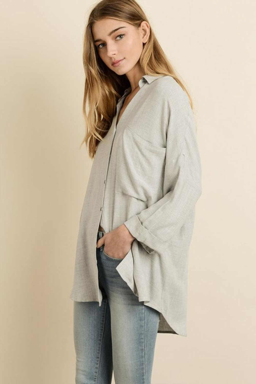 dress forum Oversized Boyfriend Shirt - Side Cropped Image