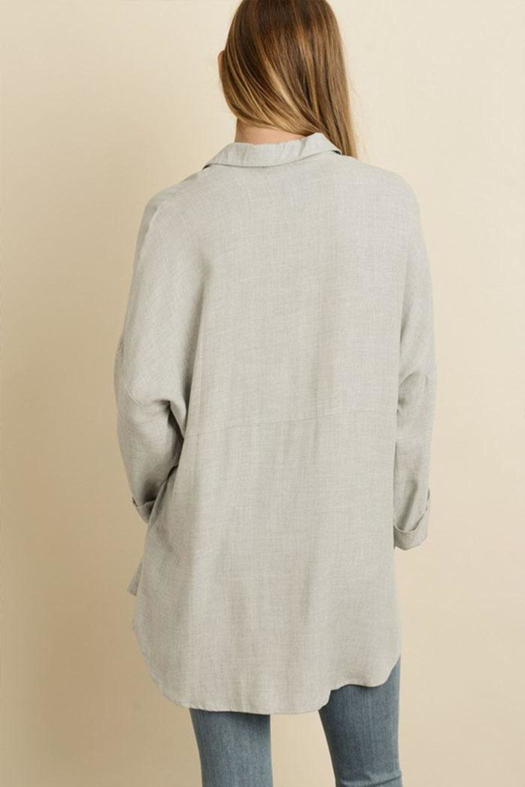 dress forum Oversized Boyfriend Shirt - Front Full Image