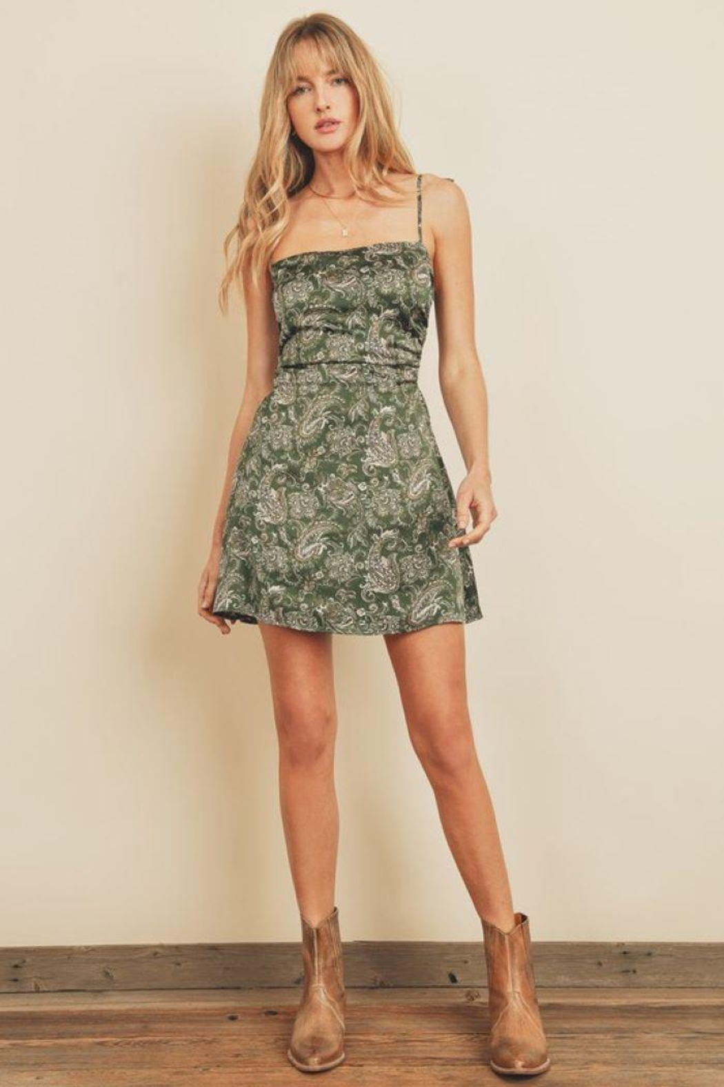 dress forum Paisley Fit & Flare Ruched Mini Dress - Main Image