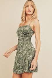 dress forum Paisley Fit & Flare Ruched Mini Dress - Side cropped