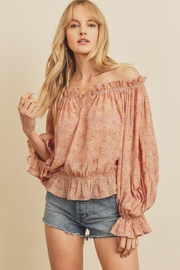 dress forum Paisley Off-Shoulder Top - Product Mini Image