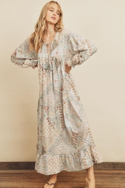 dress forum Patchwork Tiered Dress - Side cropped
