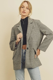 dress forum Plaid Boyfriend Jacket - Product Mini Image