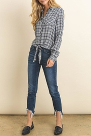 dress forum Plaid Tie Top - Front full body