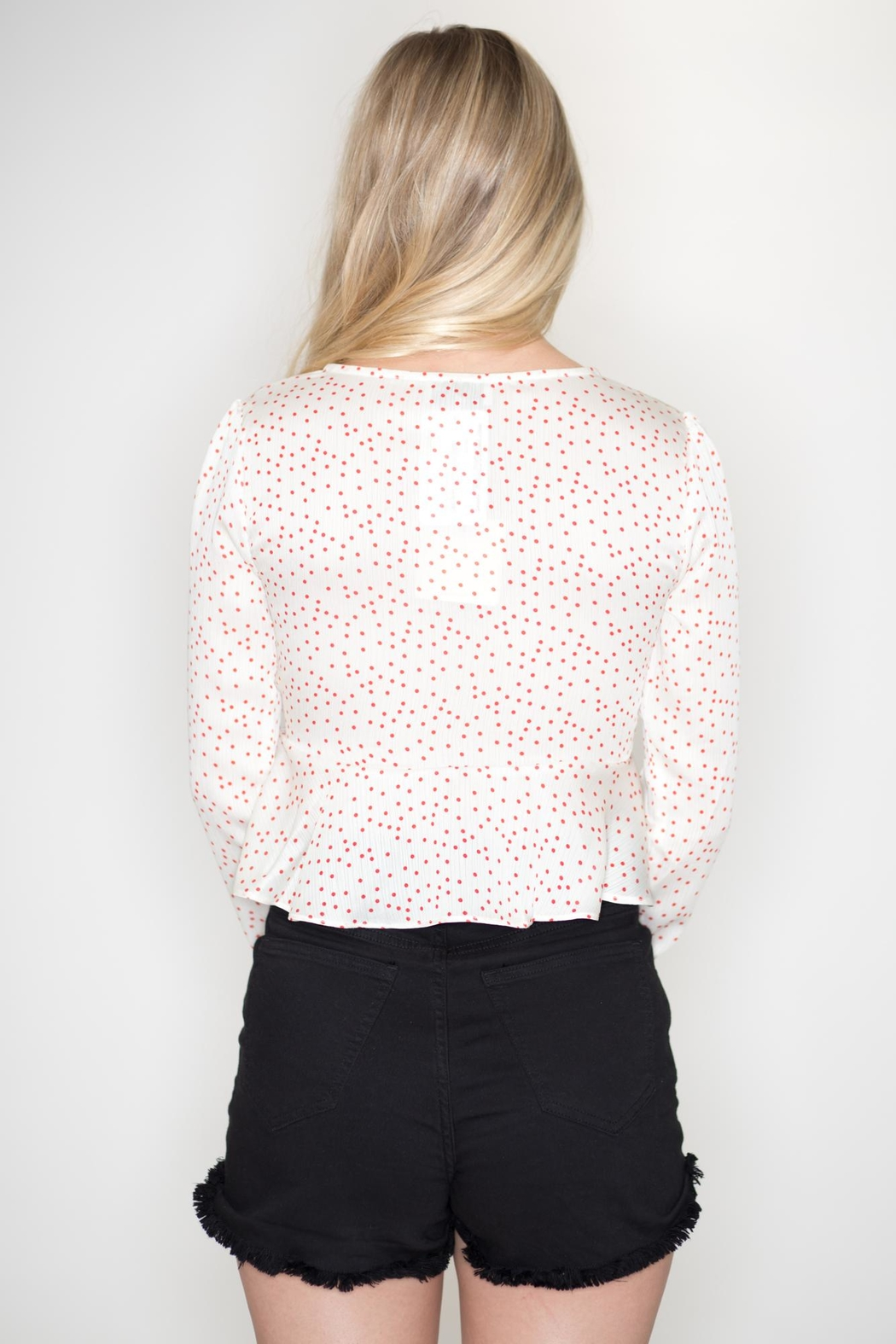 dress forum Polka Dot Blouse - Side Cropped Image