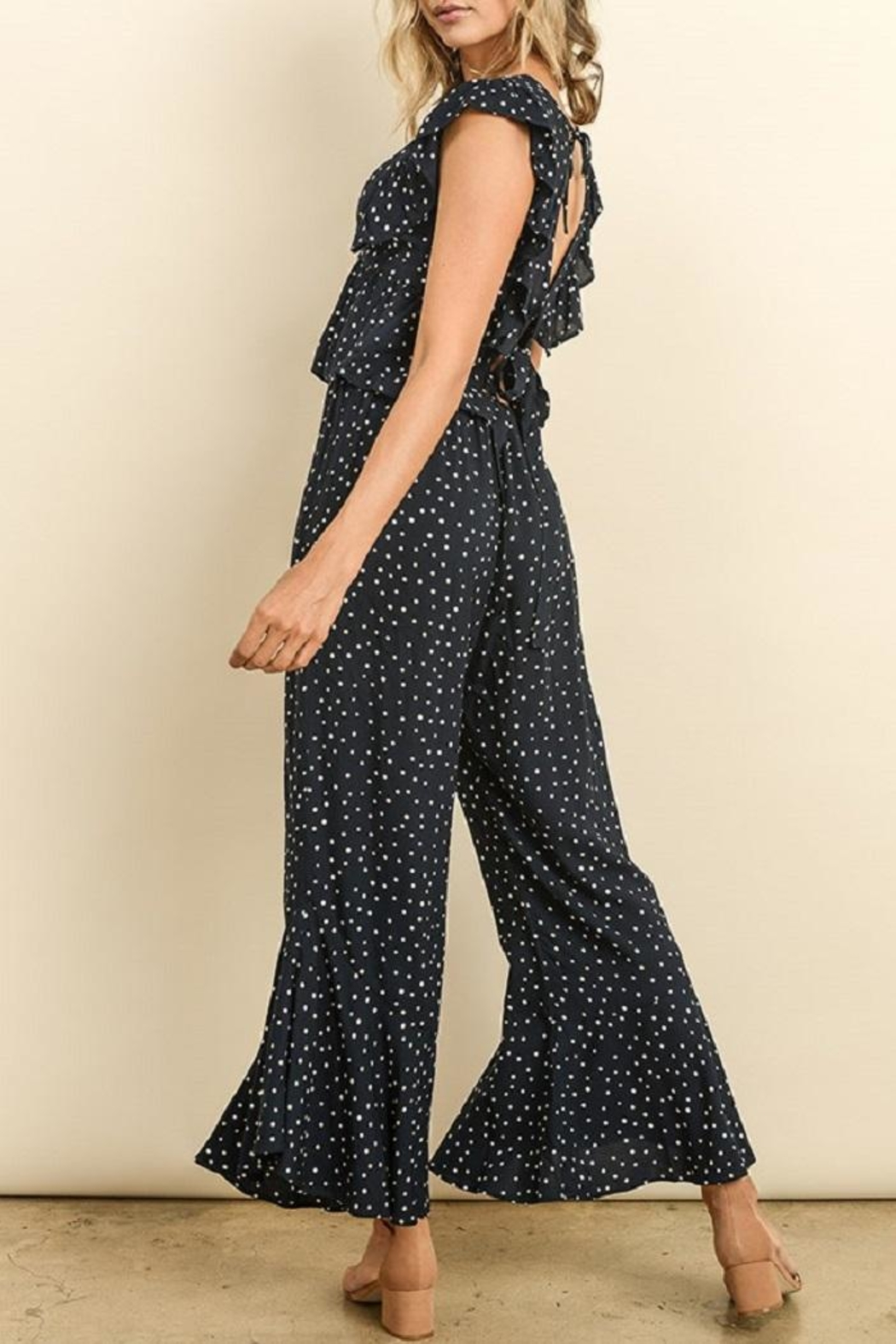 dress forum Polkadot Ruffle Pants - Side Cropped Image