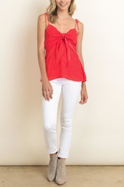 dress forum Red Tie Top - Front cropped