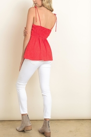dress forum Red Tie Top - Front full body