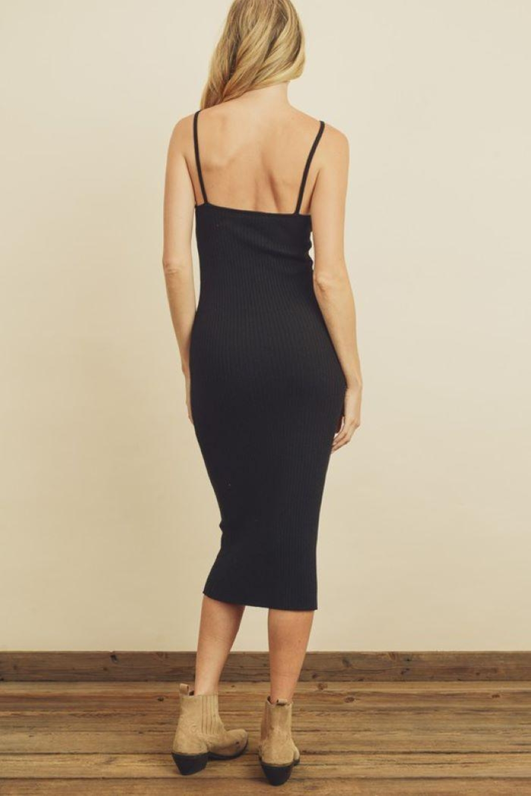 dress forum Ribbed Bodycon Dress - Side Cropped Image