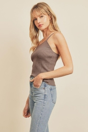 dress forum Ribbed Knit One Shoulder Top - Front full body