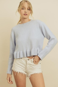 Shoptiques Product: Ruffle Hem Sweater