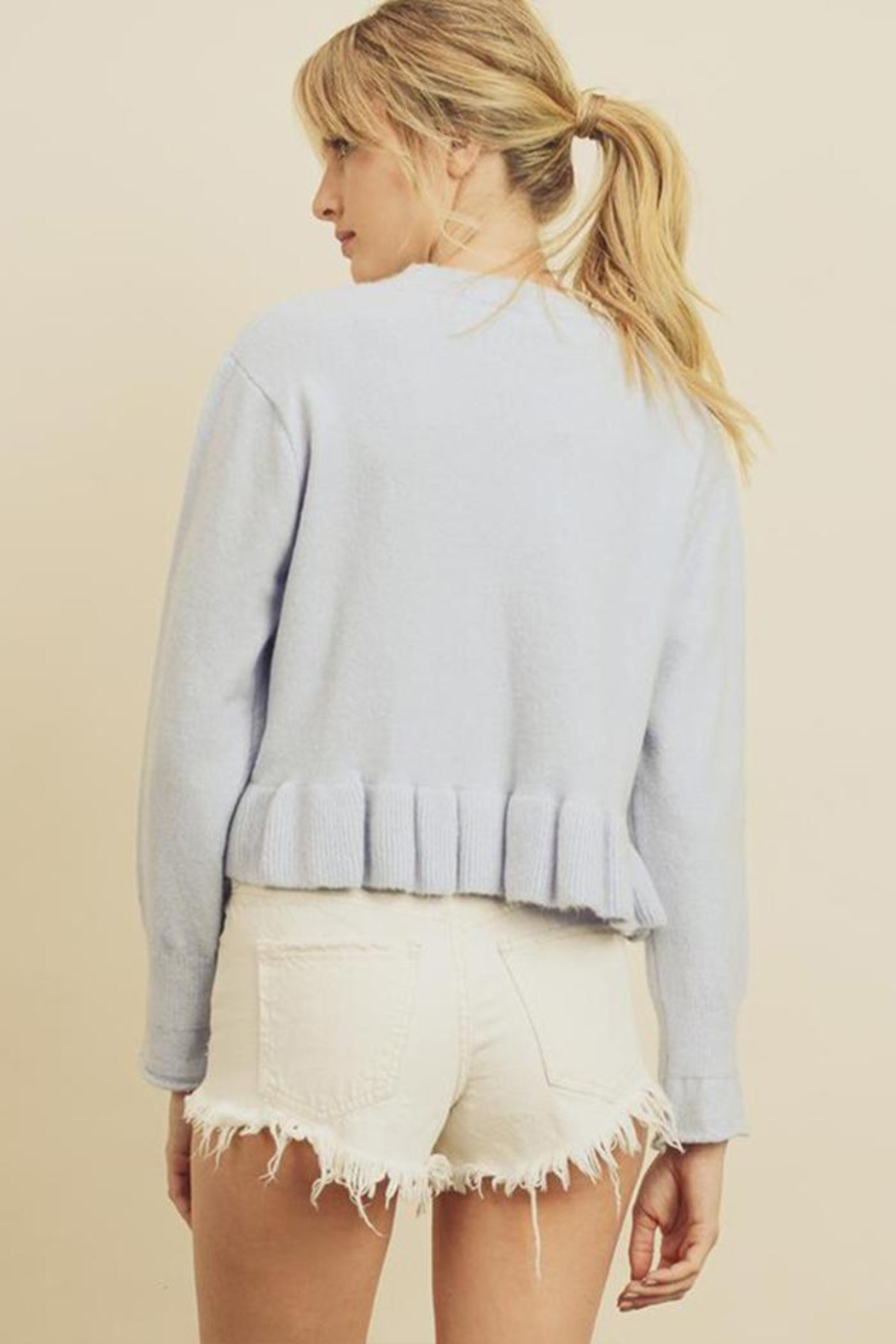 dress forum Ruffle Hem Sweater - Side Cropped Image