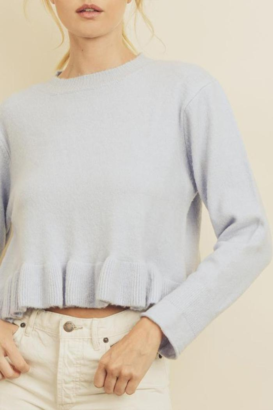 dress forum Ruffle Hem Sweater - Back Cropped Image