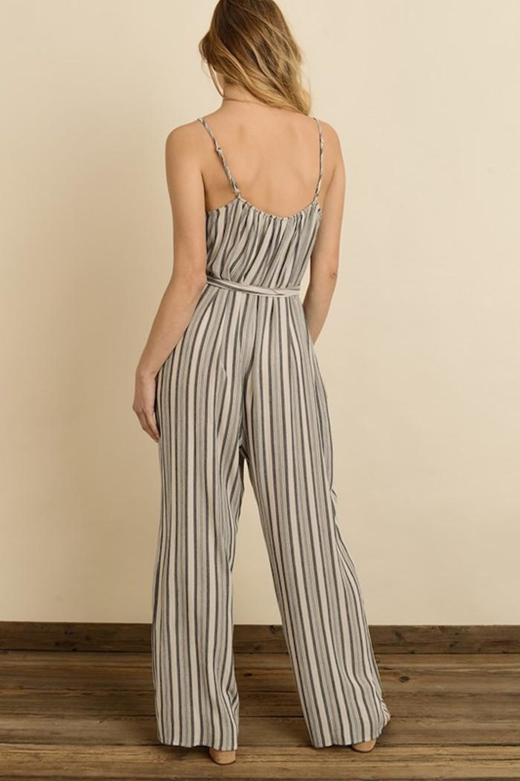 dress forum Sassy Stripes Jumpsuit - Side Cropped Image