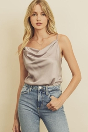 dress forum Satin Cowl-Neck Bodysuit - Front cropped