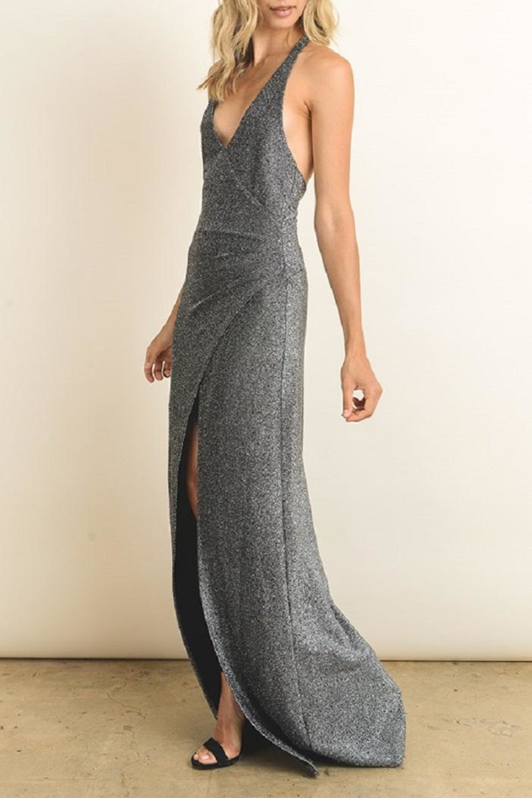 dress forum Silver Metallic Gown - Main Image