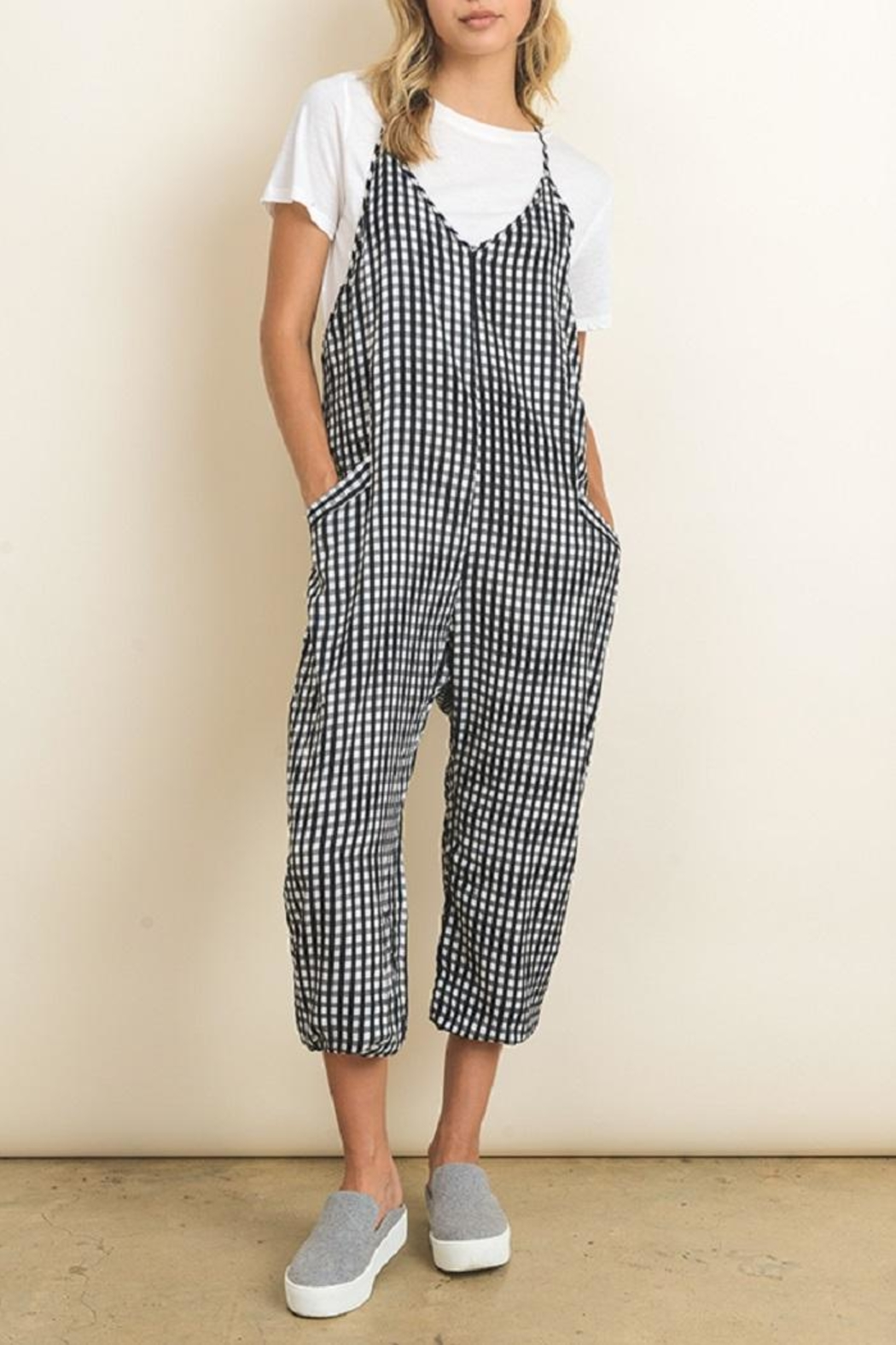dress forum Sleeveless Gingham Jumper - Main Image