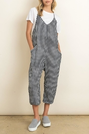 dress forum Sleeveless Gingham Jumper - Front cropped