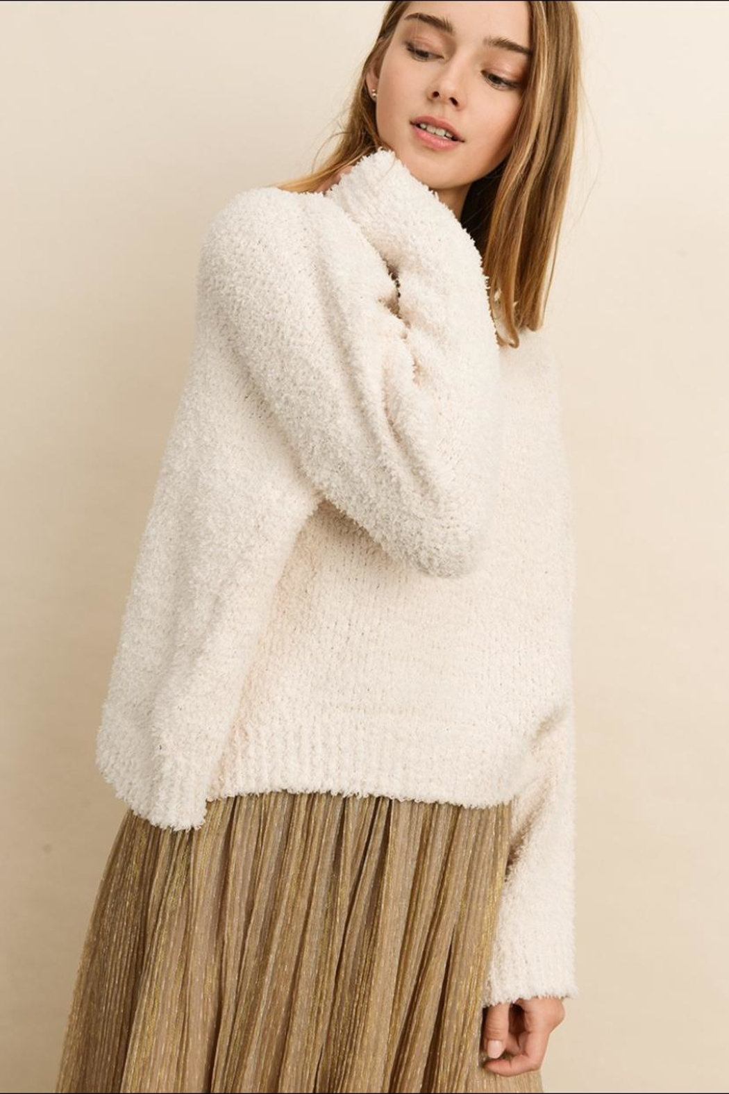 dress forum Soft Pullover Sweater - Back Cropped Image