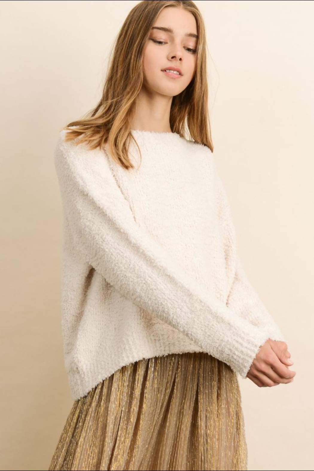 dress forum Soft Pullover Sweater - Side Cropped Image