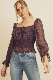 dress forum Square-Neck Floral Blouse - Product Mini Image