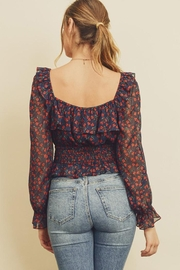 dress forum Square-Neck Floral Blouse - Front full body